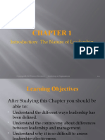 Chapter 01 The Nature of Leadership