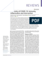 The trinity of COVID-19 - immunity, inflammation and intervention