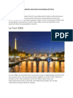 Les principales attractions  touristiques de Paris