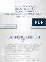 11-08-2014 DRILLING ECONOMICS AND PLANNING INVENTORY CONTROL,COST CONTROL ON DRILLING ACTIVITIES
