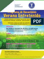 PROGRAMA DE VACACIONES 2011