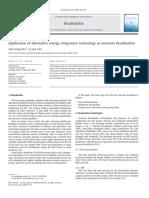 Application of alternative energy integration technology in seawater desalination