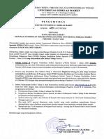 Pengumuman Rektor tentang Hasil Seleksi Tahap I Program Pendidikan Dokter Spesialis (PPDS) UNS Periode I Tahun 2020