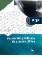 Jean-Noel Aletti, Vocabulario Ponderado de Exegese Biblica