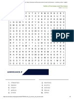 Word search - Verbs of Increase and Decrease