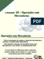 Operações com Mercadorias