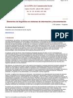 Elementos de lingüística en sistemas de información y documentación