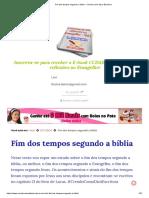 Fim dos tempos segundo a bíblia - Crendo como diz a Escritura.pdf