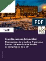 FIDH y Cajar denuncian ante la CPI que en Colombia siguen las brechas de impunidad
