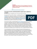 Informe HRW sobre Venezuela y el coronavirus
