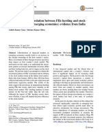 A study of lead-lag relation between FIIs herding and stock market returns in emerging economies evidence from India