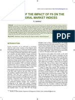 A Study of the Impact of FII on the Sectoral Market Indices