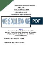 NOTE DE CALCUL BOUZIDI ZINEB