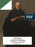 27 de mayo de 2020. San Beda El Venerable. Vísperas gregorianas