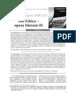Ion Ghica Opera literara I