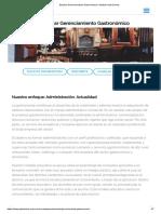 Estudiar Gerenciamiento Gastronómico _ Instituto Gato Dumas