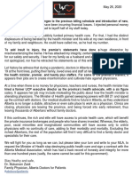 Dr. Mukarram Zaidi letter to Albertans