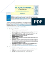 APA Style Essentials - Util Comod de Folosit