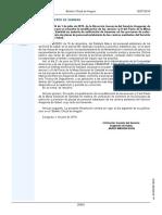 Baremo unificado PACTO MESA SECTORIAL (B.O.A)2019