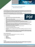 Especificación Técnica y Alcance de Servicio Servidor Virtual Backup