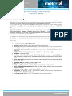 Especificación Técnica y Alcance de Servicio Cloud Backup Metrotel
