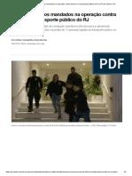 PF cumpre novos mandados na operação contra desvios no transporte público do RJ _ Rio de Janeiro _ G1 adfgasdfg