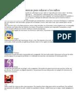Las 6 emociones básicas para educar a los niños