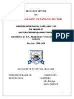 CASH MANAGEMENT IN BANKING SECTOR research report finance.doc (1)