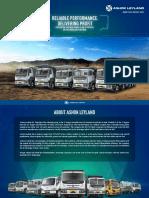 Ashok leyland BS6 tipper range brochure
