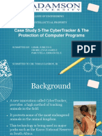 Case Study 5-The CyberTracker & the Protection of Computer Programs