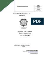 GUÍA CIENCIAS PRIMERO II TR 2 SEMANA