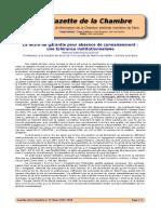 Gazette de la Chambre - Lettre de Garantie