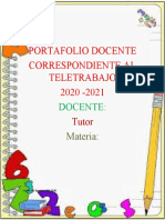 PORTAFOLIO Matematica  ZAIDA
