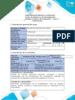Guía de actividades y rubrica de evaluación - Fase 4 - Elaboración
