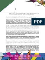 COLOMBIA EJ. MEDELLIN  Propone