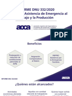 ARGENTINA EJ. Informe Decreto 332 2020