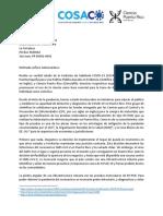 Carta de científicos a la gobernadora Wanda Vázquez