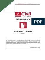 CivilEstudio. Manual del Usuario. Módulo Placa.pdf