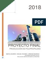 Planta de propileno y polipropileno (PP)