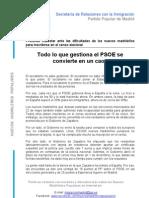 Todo Lo Que Gestiona El PSOE Se Convierte en Un Caos