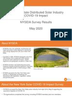 NYSEIA COVID-19 Impact Survey Results - May 2020