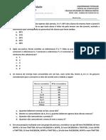 Revisão 1° Unidade - Pré-Cálculo