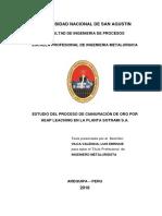 ESTUDIO DEL PROCESO DE CIANURACIÓN DE ORO POR HEAP LEACHING