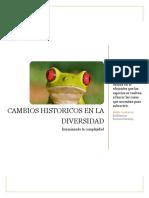 Las alteraciones históricas en la diversidad y su fenómeno adaptativo