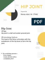 Hip joint presentation