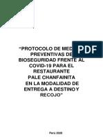 PROTOCOLO PARA LA PREVENCIÓN Y MONITOREO ANTE EL COVID-19