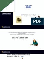 CLASE 2  SISTEMA GENERAL DE RIESGOS PROFESIONALES EN COLOMBIA  decreto 1295 de 1994 (2)