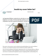 What is the optimal length for my cover letter