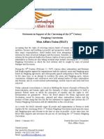 Mau Statement 1 2011 21st Century Panglong