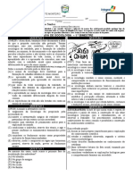 PROVA SOCIOLOGIA PRIMEIRA UNIDADE SEGUNDOS ANOS 2019 - 2 versão